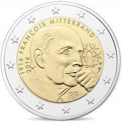 Frankrijk 2 euro 2016 'Francois Mitterrand' UNC