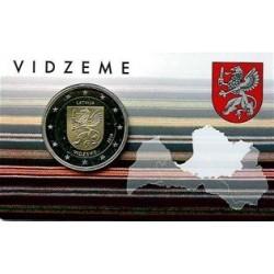 Letland 2 euro 2016 'Vidzeme' in coincard