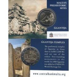Malta 2 euro 2016 'Ggantija Tempels' UNC coincard met Frans muntteken