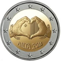 Malta 2 euro 2016 'Liefde' UNC zonder muntteken