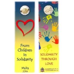 Malta 2 euro 2016 'Liefde' UNC coincard met Frans muntteken