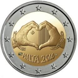 Malta 2 euro 2016 'Liefde' UNC met Frans muntteken