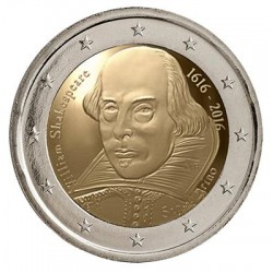San Marino 2 euro 2016 'William Shakespeare´ BU in blister