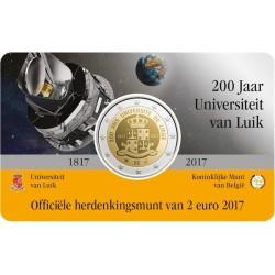 Belgie 2 euro 2017 'Universiteit van Luik' coincard