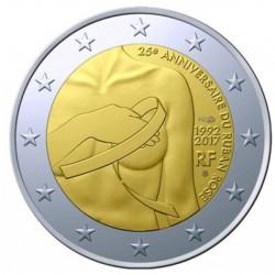 Frankrijk 2 euro 2017 'Borstkanker' UNC