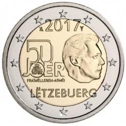 Luxemburg 2 euro 2017 'Vrijwillige leger' UNC