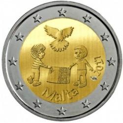 Malta 2 euro 2017 'Vrede' UNC met Frans muntteken