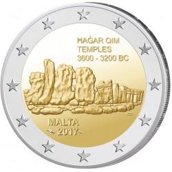 Malta 2 euro 2017 'Hagar Qim' UNC met Frans muntteken
