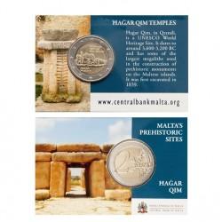 Malta 2 euro 2017 'Hagar Qim' Coincard met Frans muntteken