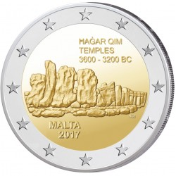 Malta 2 euro 2017 'Hagar Qim' UNC zonder muntteken