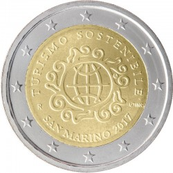 San Marino 2 euro 2017 'Toerisme´ BU in blister