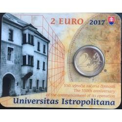 Slowakije 2 euro 2017 'Istropolitana Universiteit' BU coincard