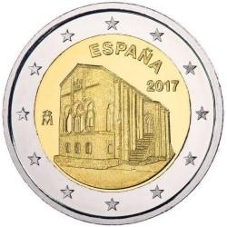 Spanje 2 euro 2017 'Asturie - kerk van Santa Maria del Naranco' UNC