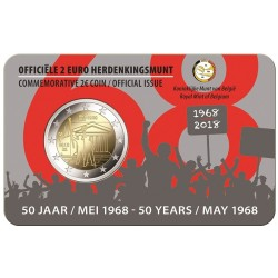 Belgie 2 euro 2018 'Mei-opstand 1968' coincard