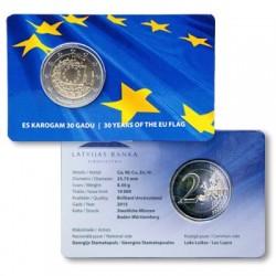 Letland 2 euro 2015 'Europese Vlag' in coincard