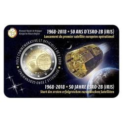 Belgie 2 euro 2018 'ESRO-2B Satelliet' coincard