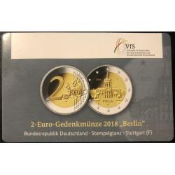 Duitsland 2 euro 2018 F ´Berlijn - Schloss Charlottenburg' BU coincard