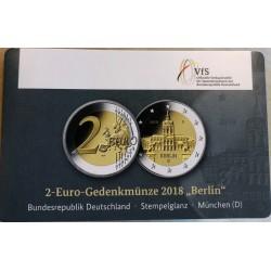 Duitsland 2 euro 2018 D ´Berlijn - Schloss Charlottenburg' BU coincard
