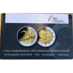 Duitsland 2 euro 2018 J ´Helmut Schmidt' BU coincard