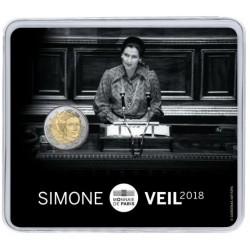 Frankrijk 2 euro 2018 'Simone Veil' BU in coincard
