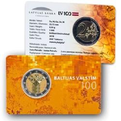 Letland 2 euro 2018 'Baltische Staten' in coincard