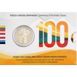 Litouwen 2 euro 2018 'Baltische Staten' BU coincard