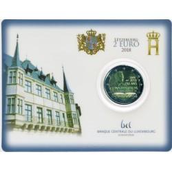 Luxemburg 2 euro 2018 'Willem I' BU coincard