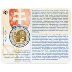 Slowakije 2 euro 2018 'Republiek Slowakije' BU coincard