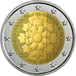 Frankrijk 2 euro 2018 'Korenbloem (einde 1e Wereldoorlog)' UNC