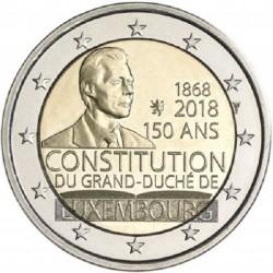 Luxemburg 2 euro 2018 '150 jaar Grondwet' UNC - muntteken Leeuw + Mercuriusstaaf