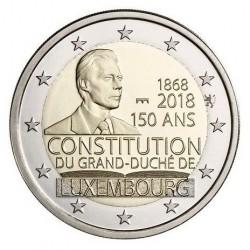 Luxemburg 2 euro 2018 '150 jaar Grondwet' UNC - muntteken Sint Servaas + Leeuw