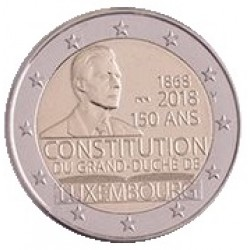 Luxemburg 2 euro 2018 '150 jaar Grondwet' UNC - muntteken Sint Servaas + Mercuriusstaaf