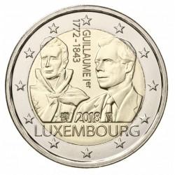 Luxemburg 2 euro 2018 'Willem I' UNC - muntteken Leeuw + Mercuriusstaaf