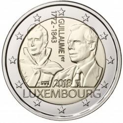 Luxemburg 2 euro 2018 'Willem I' UNC - muntteken Sint Servaas + Mercuriusstaaf