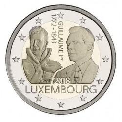Luxemburg 2 euro 2018 'Willem I' UNC - muntteken Sint Servaas + Leeuw