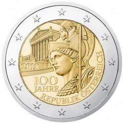 Oostenrijk 2 euro 2018 'Republiek Oostenrijk' UNC