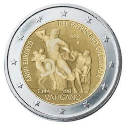Vaticaan 2 euro 2018 'Cultureel Erfgoed' BU in blister