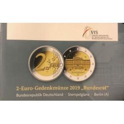 Duitsland 2 euro 2019 A Bundesrat BU coincard