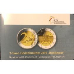 Duitsland 2 euro 2019 F Bundesrat BU coincard