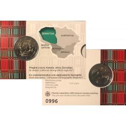 Litouwen 2 euro 2019 Zemaitija BU Coincard