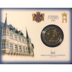 Luxemburg 2 euro 2019 Stemrecht - BU coincard