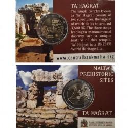 Malta 2 euro 2019 Ta Hagrat UNC in coincard