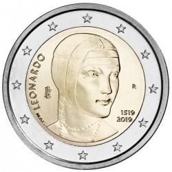 Italie 2 euro 2019 Leonardo da Vinci UNC