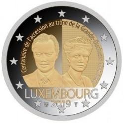 Luxemburg 2 euro 2019 Charlotte - UNC muntteken Leeuw + Mercuriusstaaf