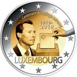 Luxemburg 2 euro 2019 Stemrecht - UNC mintmark Leeuw + Mercuriusstaaf