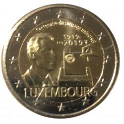 Luxemburg 2 euro 2019 Stemrecht - UNC mintmark Sint Servaas + Mercuriusstaaf