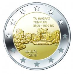 Malta 2 euro 2019 Ta Hagrat Tempels UNC met Frans muntteken