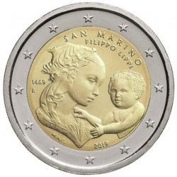 San Marino 2 euro 2019 Fillipo Lippi BU in blister