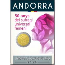 Andorra 2 euro 2020 Universeel Vrouwenkiesrecht BU coincard