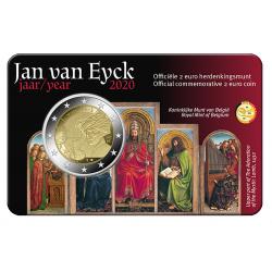 Belgie 2 euro 2020 Jan van Eyck BU coincard NL